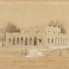 Rendering of the Lockwood Kiplings' house in Lahore by Baga Ram, ca. 1880